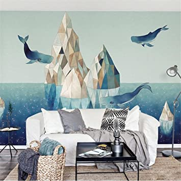 Wallpaper Creative Marine Whale Pattern 3d Custom Mural For