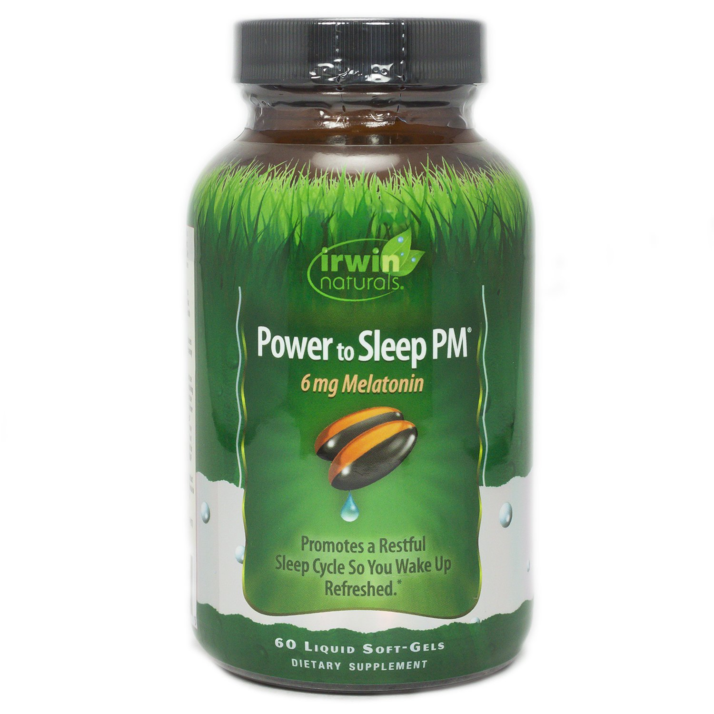 Irwin Naturals, Power to Sleep PM 6mg Melatonin, 60 Count by Irwin Naturals