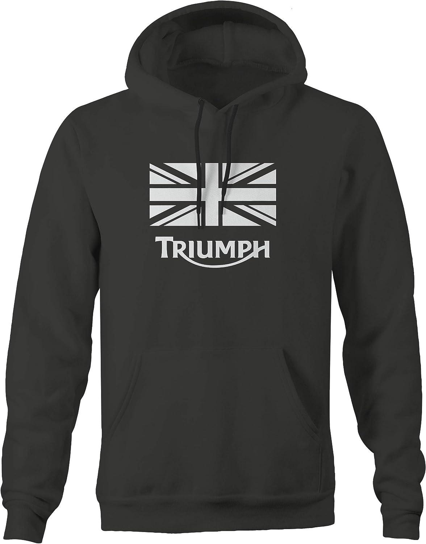 2XL Triumph Vintage Motorcycle Logod Charcoal Hooded Sweatshirt