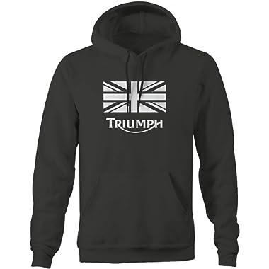 Triumph Vintage Motorcycle Logo'd Hooded Sweatshirt