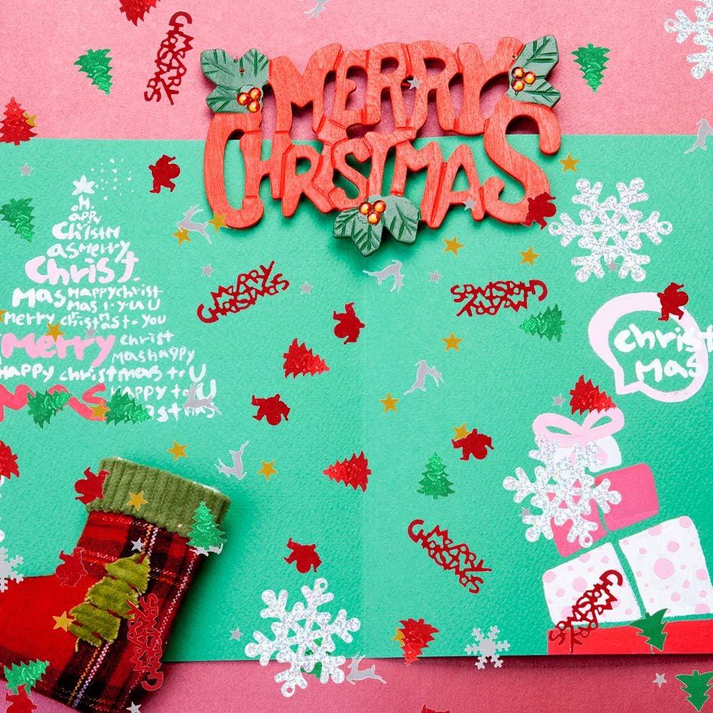 Christmas Confetti 100g Sprinkles Confetti Pentagram Snowflake Santa Xmas Tree Table Confetti Multicolor Xmas Party Decoration DIY Festive Decor