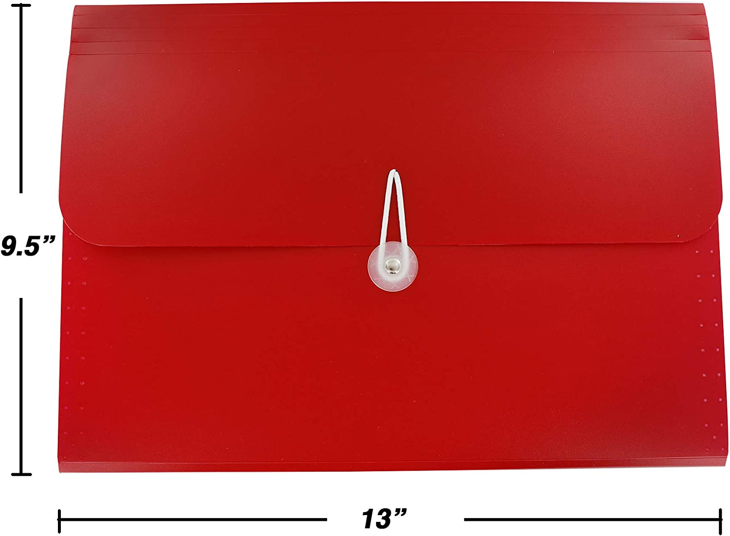 13-Pocket Letter Size Poly Expanding File High Capacity Plastic Business Portable Accordion File Bag Folder Office Organizer for Receipts and Checks Pack of 6 by Emraw