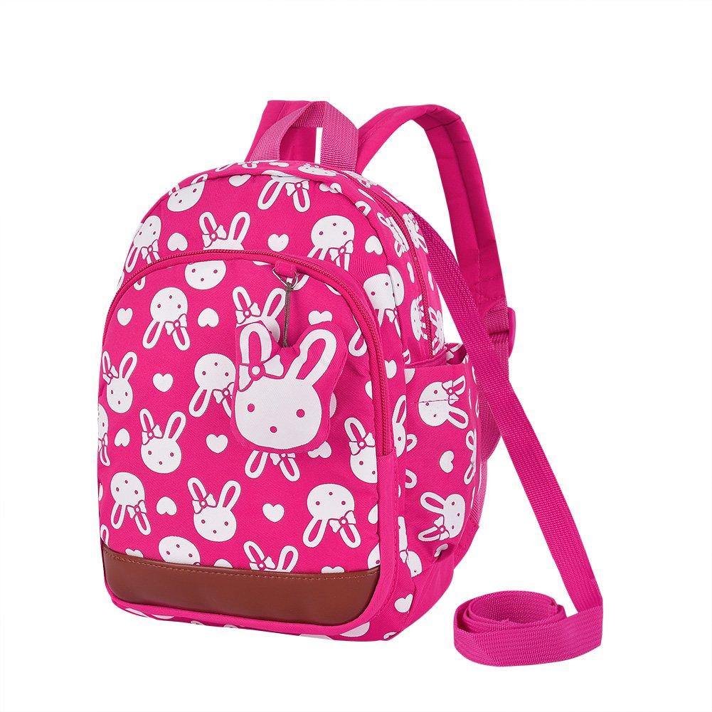 Vbiger Kindergartenrucksack Niedliche Kindergartentasche Anti-Verloren Mädchen Kinderrucksack Leichte Mini Backpack für 1-3 Jahre Alt