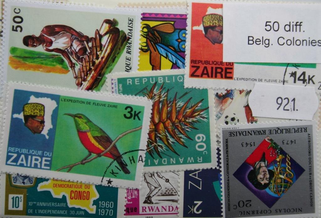 921 Belgian Colonies 50 stamps