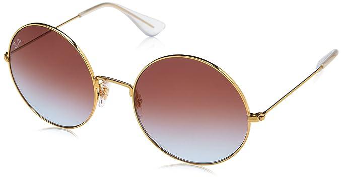 1e43d86dca Ray-Ban ja metallo jo rotondi occhiali da sole in sfumatura viola oro blu  RB3592 001/I8 50: Amazon.it: Abbigliamento
