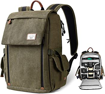 Zecti Large Waterproof Canvas Backpack