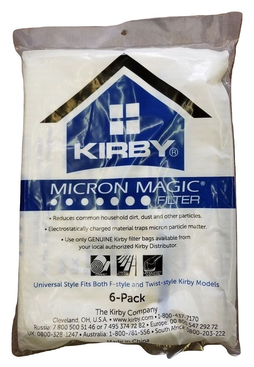 Kirby Part # 204808/204811 – Genuine Kirby Style F HEPA filtration Vacuum Bags for Sentria models – 6/Package, Sentria®,
