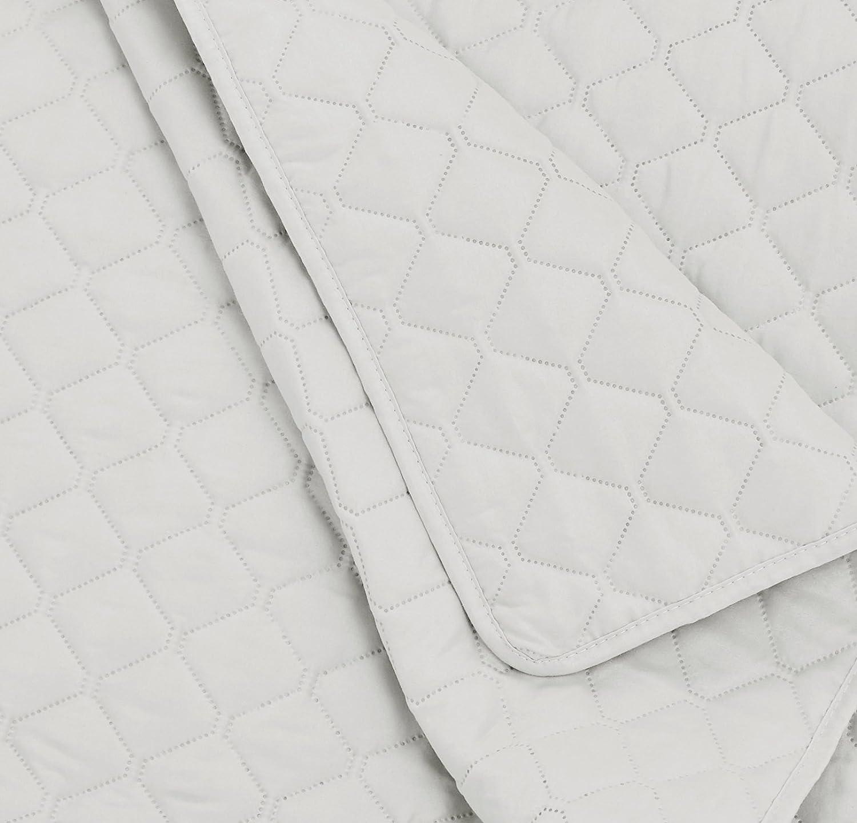 diamante 240 x 260 cm Blanco Basics Colcha labrada extragrande