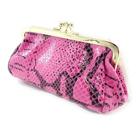 Monederos de cuero Frandide color rosa (de pitón).: Amazon ...