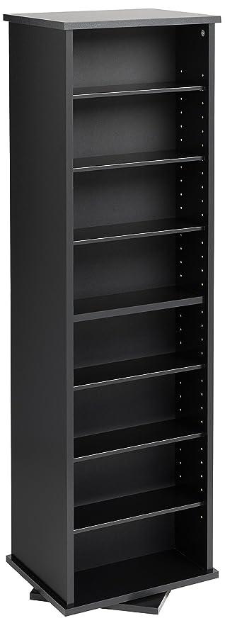 Etonnant Prepac Two Sided Spinning Tower Storage Cabinet, Black