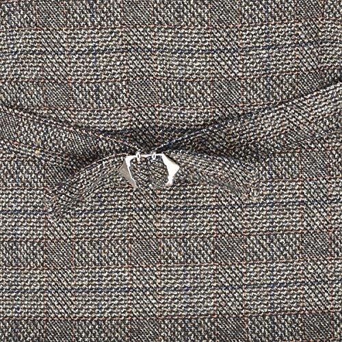 Costume Hommes Voboom Col V Veste Casual Robe Cintrée 6 Bouton Gilet Gilet (l Brun)