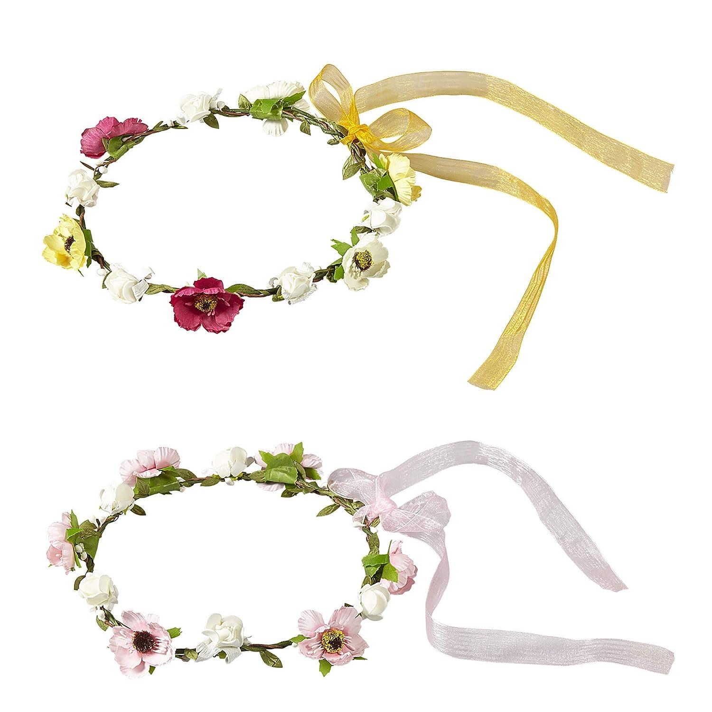 Widmann 01129 Diadème avec Fleurs et Rubans Assortis