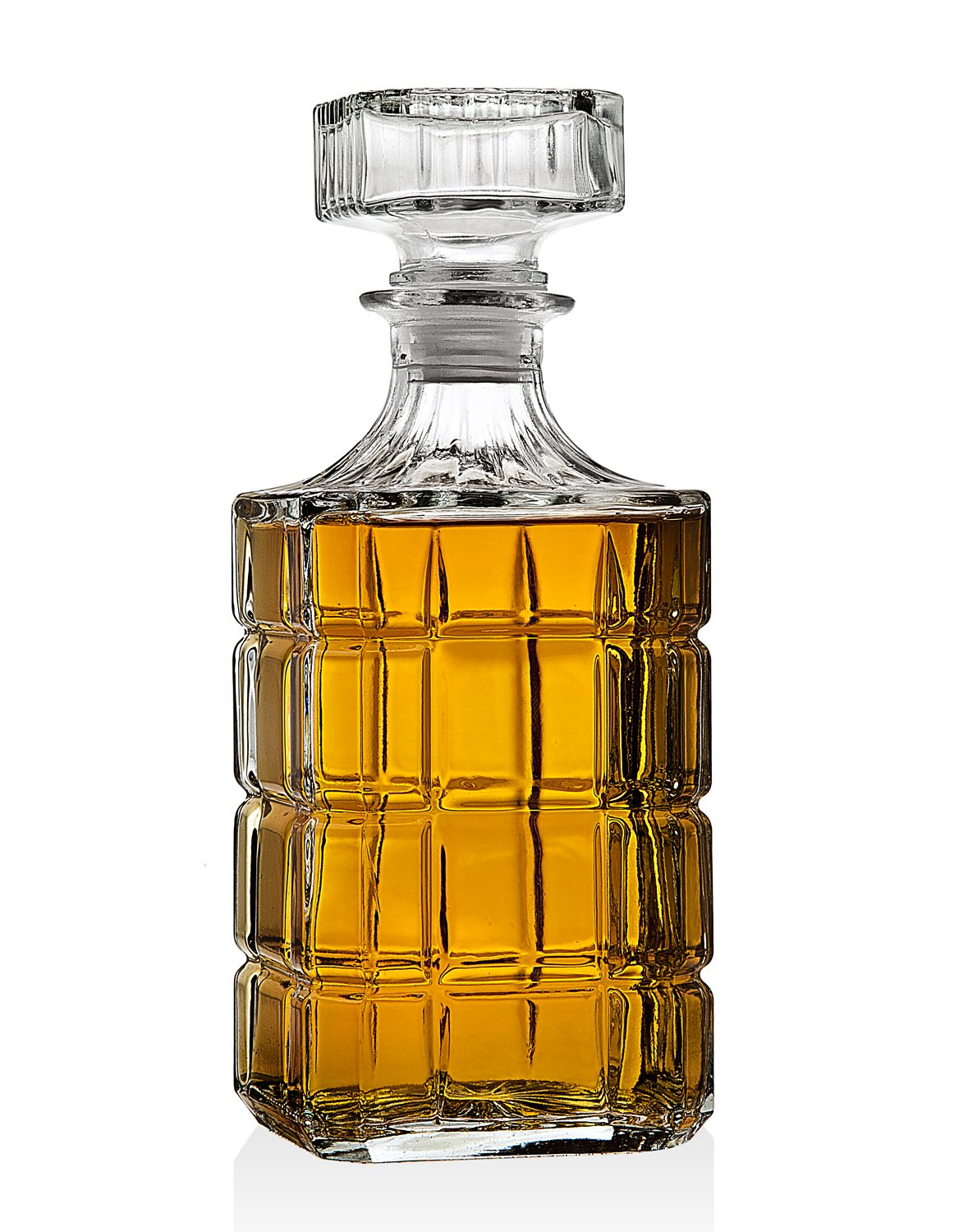 Whiskey Decanter for Scotch Liquor Bourbon or Wine - 750ml by Lefonte