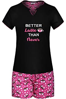 5ade85a70478 SofiePJ Women s Printed Cotton Short Sleeve Pajama Set with Short Pants