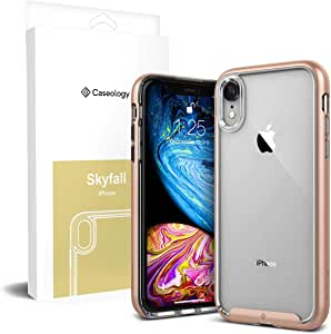 Apple iPhone XR Caseology Skyfall Series Clear Slim Fit Corner Cushion Enhanced Drop Protection Hard Case - Gold