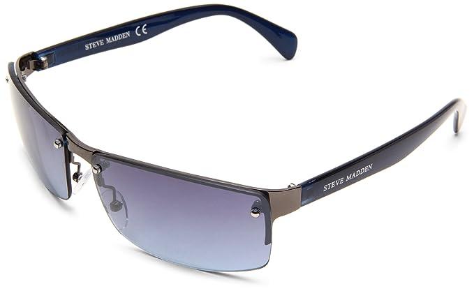 Steve Madden Men\'s S3032 GUNBL Rimless Sunglasses,Gun Blue Frame ...