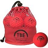 TOBIEMON(トビエモン) ゴルフボール 蛍光マット ゴルフボール 公認球 2ピース 蛍光マット 12球 レッド メッシュバッグ入 T-MRE コンプレッション:90 ボールタイプ:ディスタンスタイプ