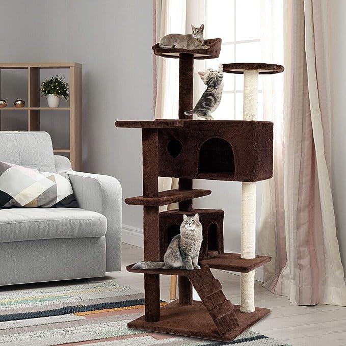 Amazon.com: Tangkula Árbol para gatos, torre de árbol para ...