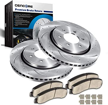 Front Brake Discs Rotors And Ceramic Pads For Ford Expedition Lincoln Navigator
