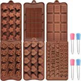 Chocolate Molds Silicone Mold Bakeware Set DIY for Cake Candy Chocolate for Kid, Men, Women