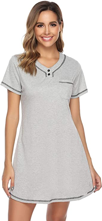 iClosam Pijama y Camisón Mujer Algodon Corto Verano Suave Comodo Ropa de Dormir S-XL: Amazon.es: Ropa y accesorios