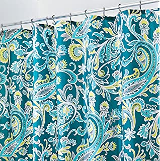 MDesign Paisley Fabric Shower Curtain