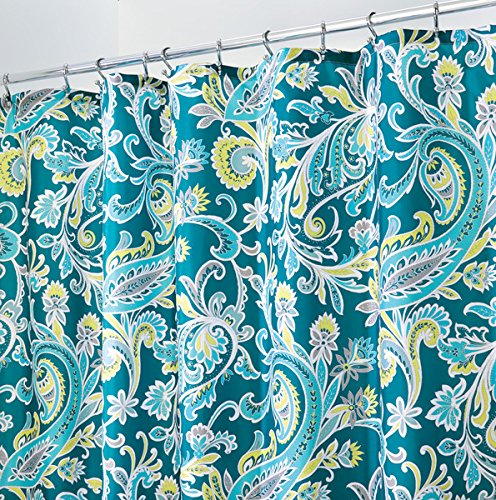 mDesign Paisley Fabric Shower Curtain - 72