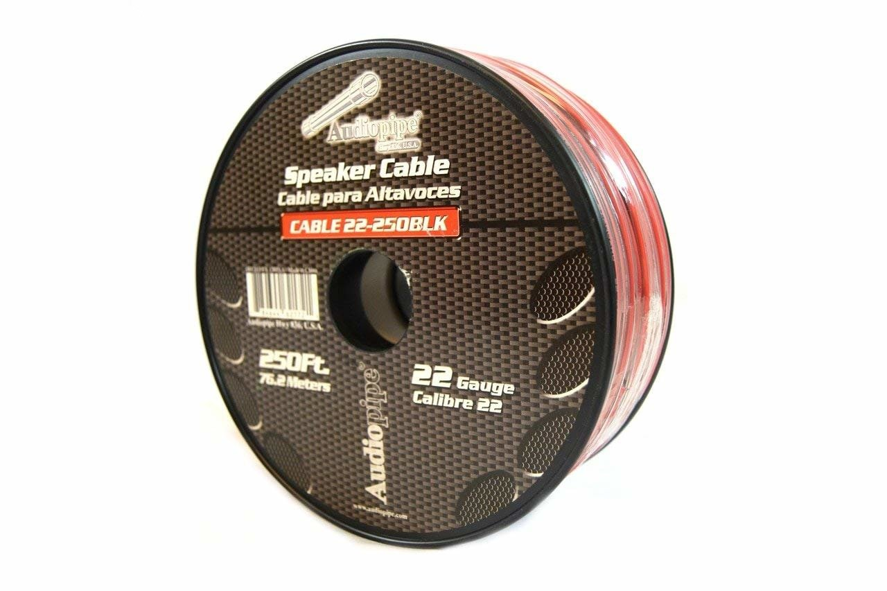 Speaker Wire 22 GA 250 Feet Red Black Stranded Copper Clad Home Audio Sound