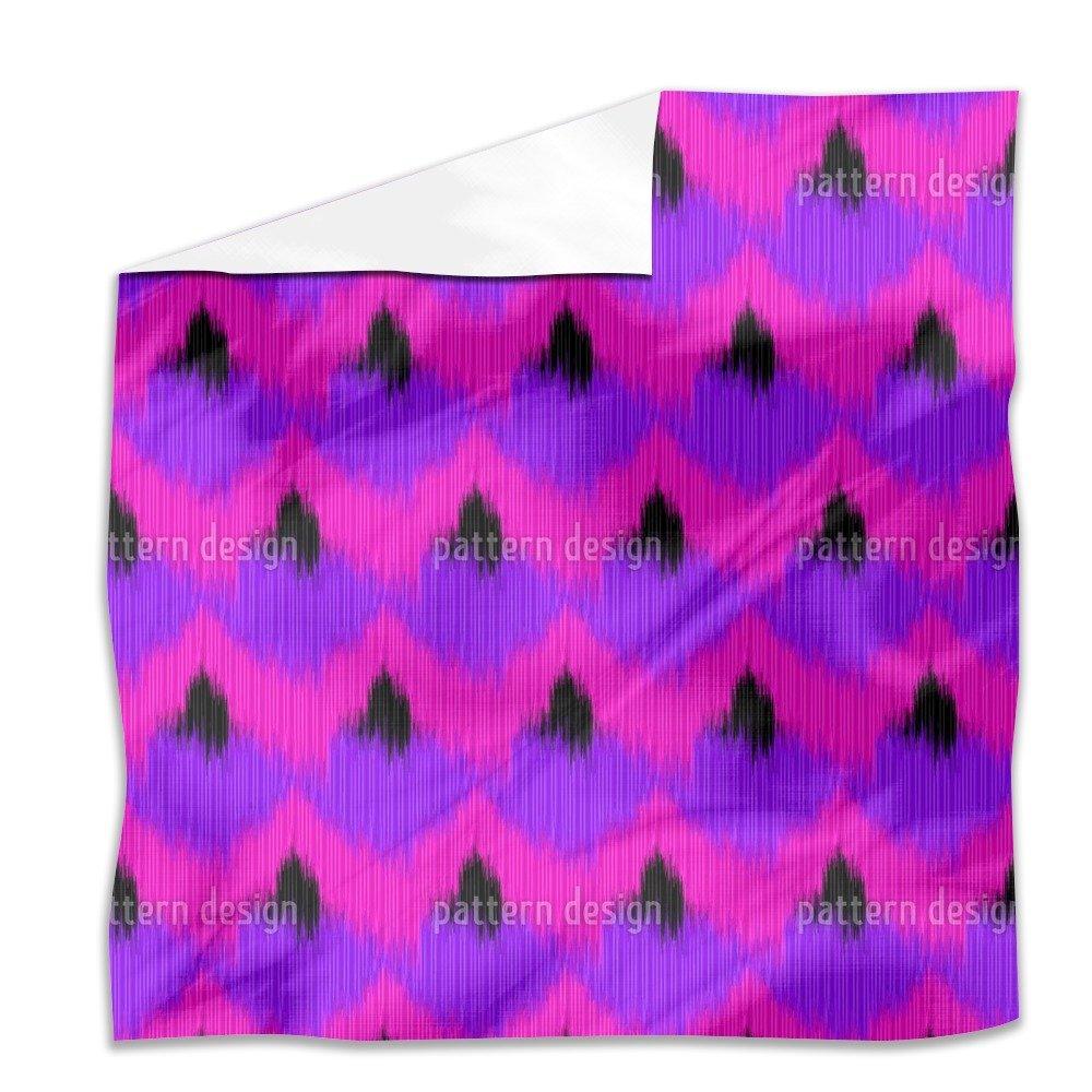 Funky Animal Ikat Flat Sheet: King Luxury Microfiber, Soft, Breathable