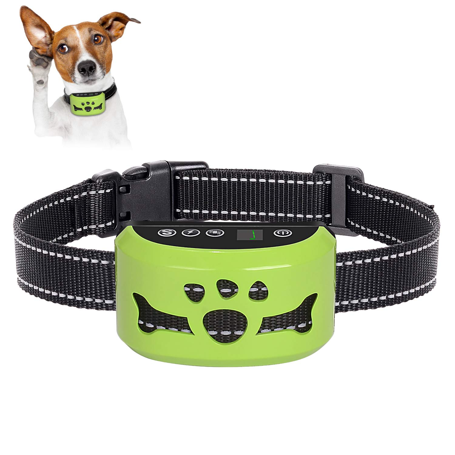 2019 Newest Dog Bark Collar, 7 Adjustable Sensitivity and Intensity Levels – Dual Anti-Barking Modes-Rechargeable – Rainproof No Barking Control Dog shock Collar for Small, Medium, Large Dogs