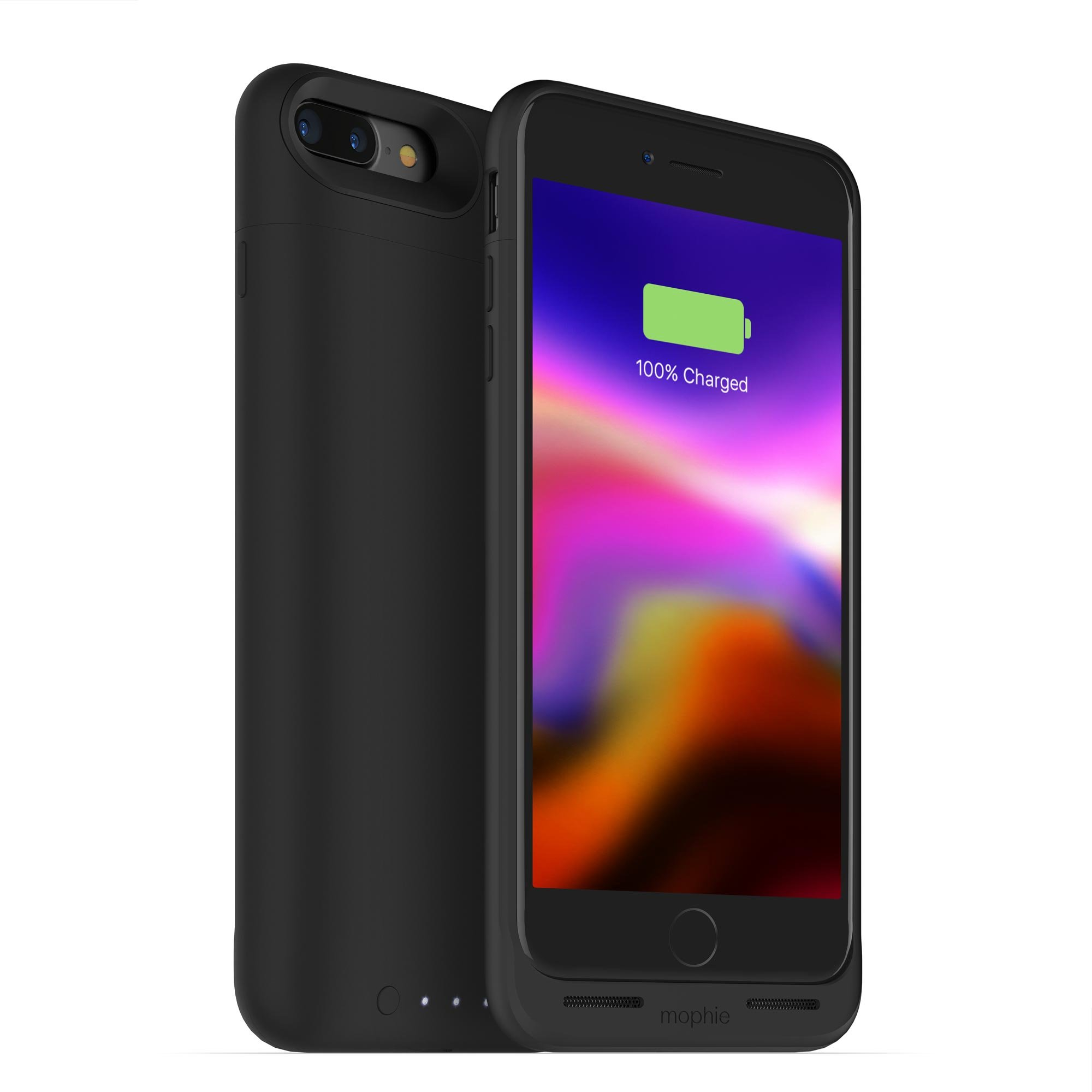 mophie juice pack wireless - Charge Force Wireless Power - Wireless Charging Protective Battery Pack Case for iPhone 7 Plus and 8 Plus - Black by mophie