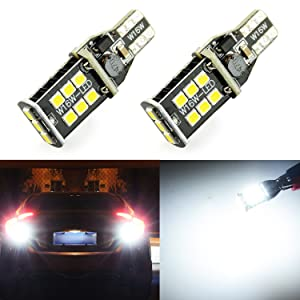 JDM ASTAR Extremely Bright Error Free 360-Degree Shine 921 912 906 904 902 3035 Chips LED Bulbs For Backup Reverse Lights, Xenon White