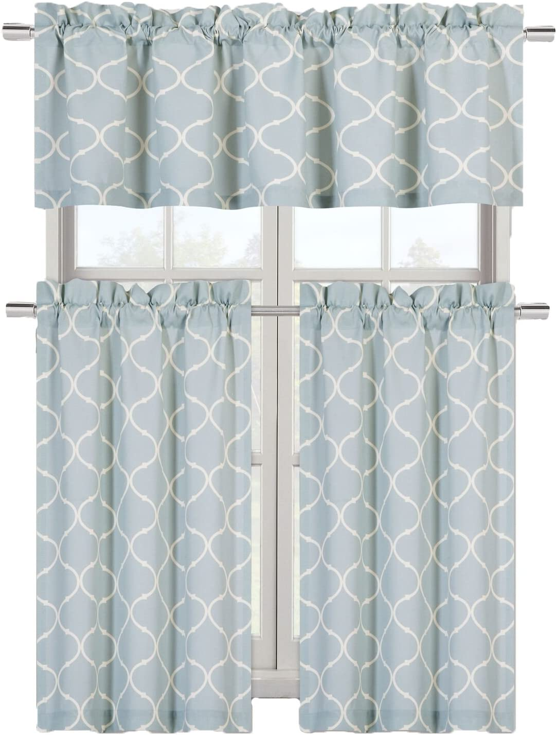 Amazon Com Regal Home Collections Cafe Styled Shabby Lattice
