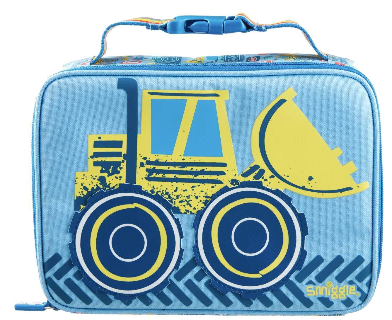 Smiggle Topsy Teeny Tiny Lunchbox | Car Print (Light Blue)