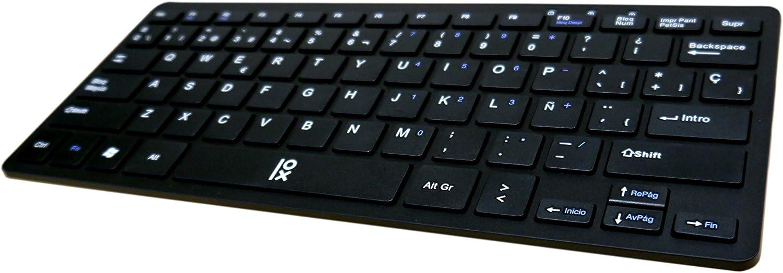 Primux K100B - Teclado Delgado, Color Negro
