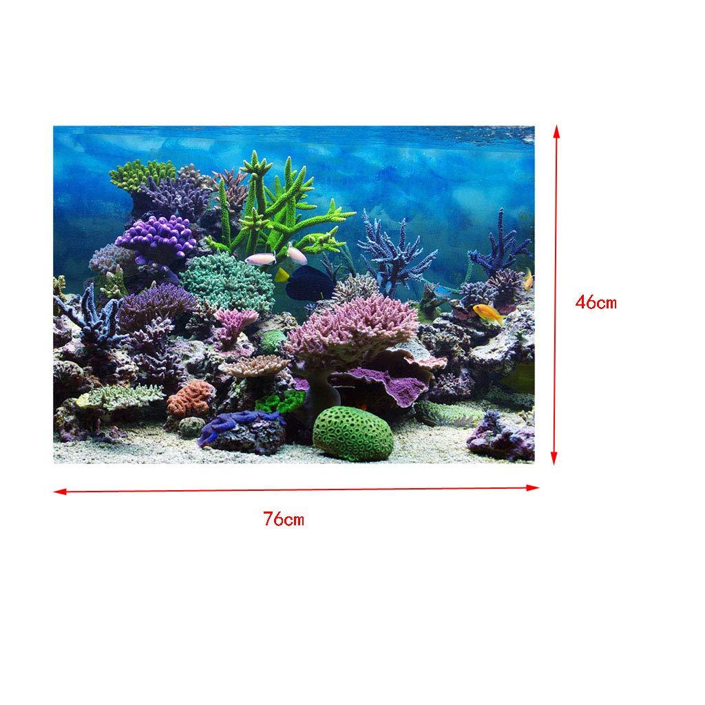 Vivid Aquarium Background Backdrop Adhesive Poster Underwater Sea Basketball Playground Style Decoration Paper Sticker Desert M