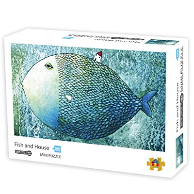1000 pieces jigsaw puzzles for Adult, Intellectual Games Micro-size Puzzles Art Paintting Home Decor Fish and House: Everything Else