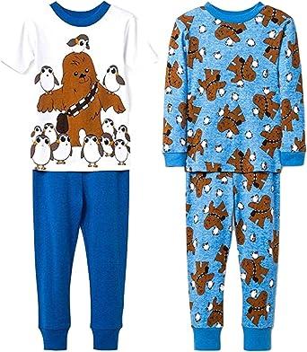 Juego de Pijama de 4 Piezas de Star Wars Chewbacca y PORG ...