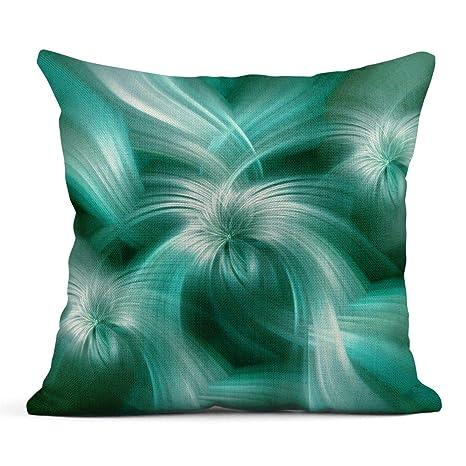 Kinhevao Cojín Colorido Energía Suave Verde Azul Abstracto ...