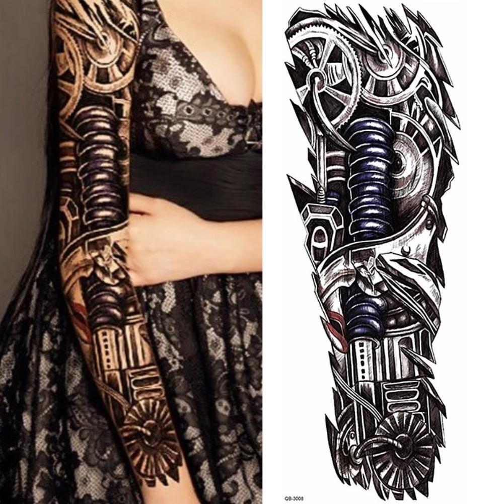 JUSTFOX - Temporäres Tattoo Design (mechanischer Arm): Amazon.de: Beauty