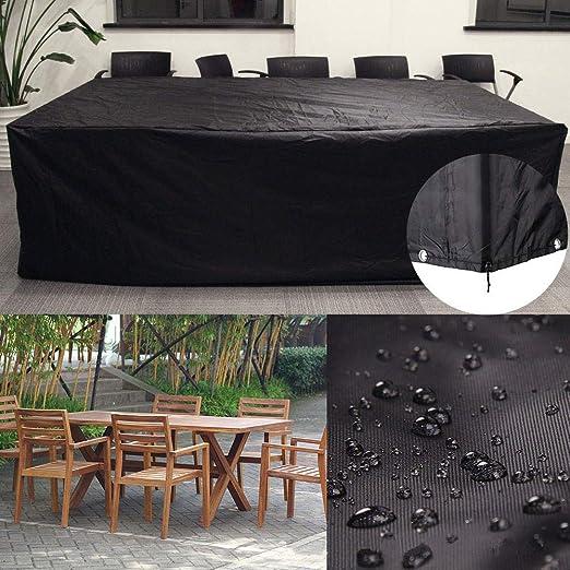 Gudotra Funda Mesa Jardin 213 x 132 x 74 cm Impermeables Protector para Sofa de Jardin Aire Libre Patio Plazas Funda para Mesa Sillas: Amazon.es: Jardín