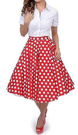lolichy años 50 estilo rojo blanco lunares Mariam Swing círculo ...