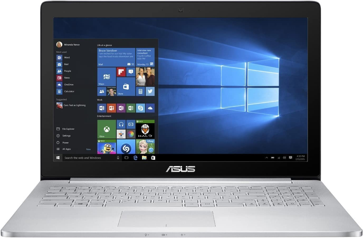 ASUS ZenBook UX501VW 15.6in (Intel Core i7-6700HQ, 16GB RAM, 512GB NVMe SSD, NVIDIA GTX 960M, 2GB GPU, IPS UHD Touchscreen Glossy, Windows 10) 64 bit Gaming Laptop (Renewed)