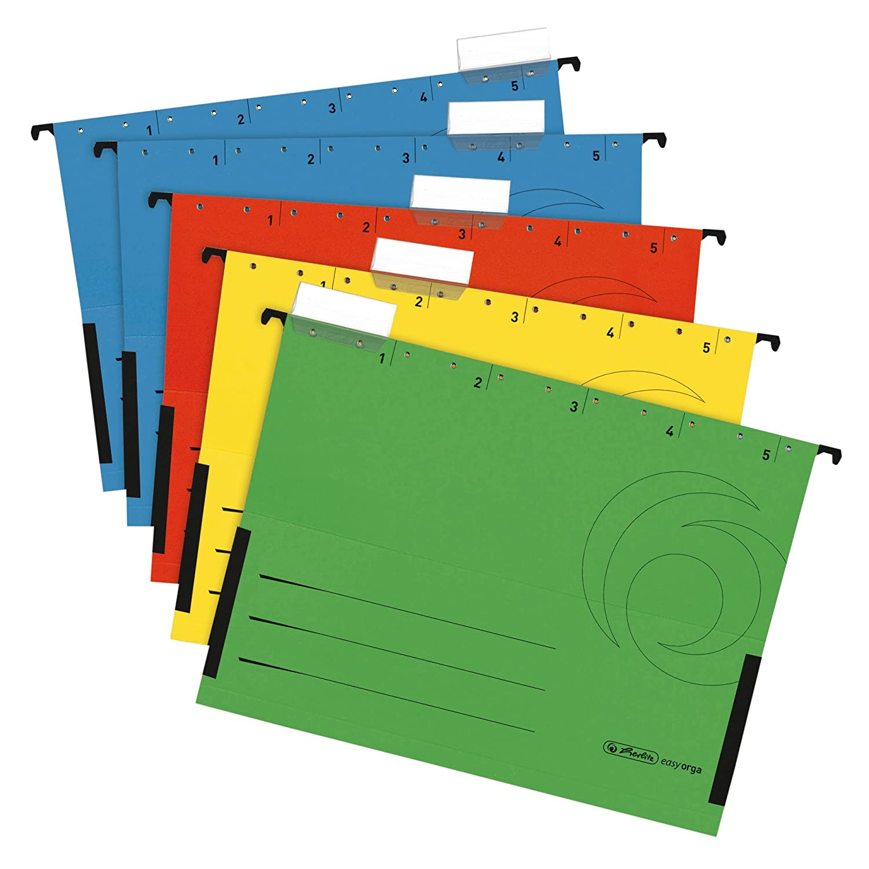 Herlitz Cartelle Sospese in formato A4tasca, colori assortiti (5pezzi) Pelikan 5874755