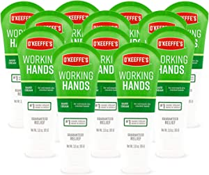 O'Keeffe's Working Hands Hand Cream, 3 ounce Tube, (Pack of 12), White, Model:K0290004-12