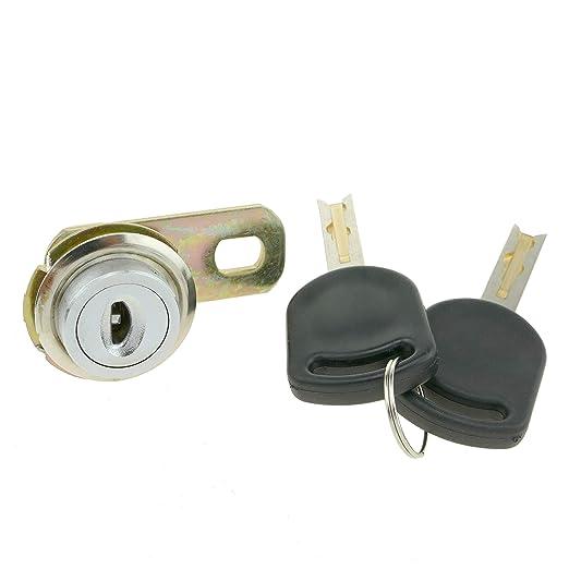 PrimeMatik - Cerradura de leva de 17mm x M18 con llave crescent (KY016): Amazon.es: Bricolaje y herramientas