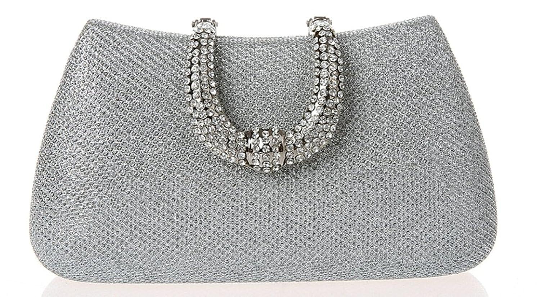 Ilishop Women's Silver Famous Brand Clutch Handbag