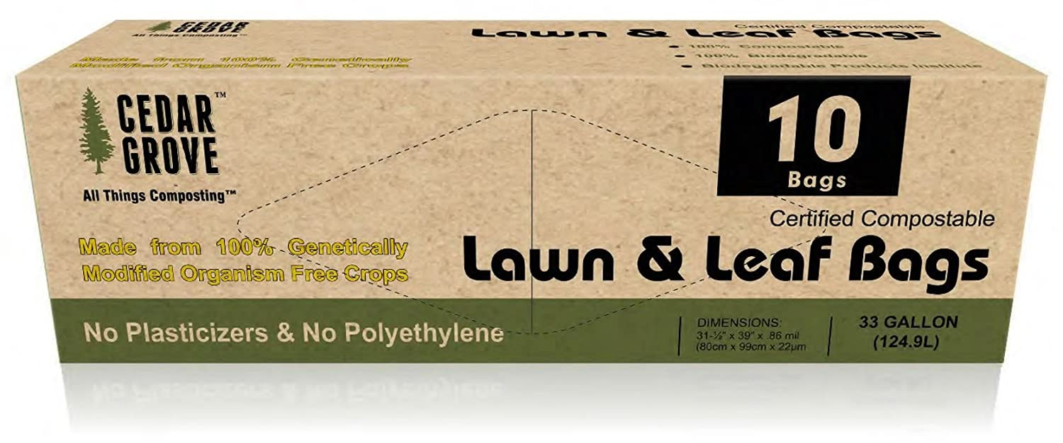 Eco Friendly Compostable Lawn & Leaf Bags