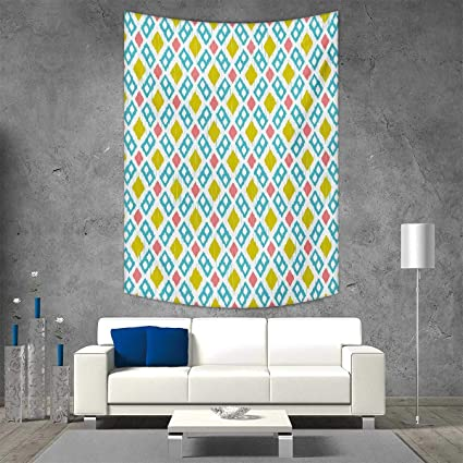 Smallbeefly Ikat Home Decorations For Living Room Bedroom Various Sized Different Lines Blurred Vertical Axis