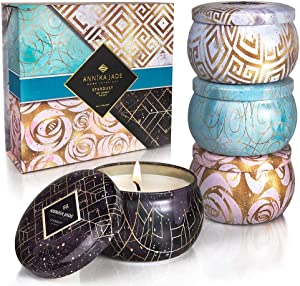 ANNIKA JADE – Quality, Candle Gift Box Set | Scented Soy Tin Candle | Aromatherapy - Relaxing Stress Relief for Woman | Cute Box | Thank You, Get-Well Gift, Travel, Mother's Day, Birthday Gift
